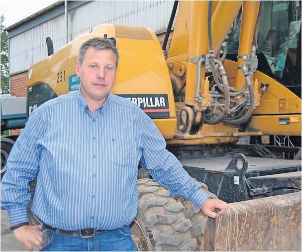 Mit der Deponie möchte er seine Firma auf ein weiteres Standbein stellen – und hat damit ganz Hagen gegen sich aufgebracht: Jörg Freimuth, Bauunternehmer aus Bülkau. Foto Hansen