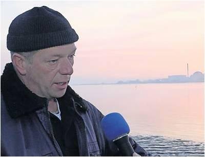 Ein mulmiges Gefühl: Gregor Düring ist skeptisch, was die neuen Pläne zur Atommülllagerung auf dem Gelände des Kernkraftwerks Unterweser in Kleinensiel angeht.  Foto Haag