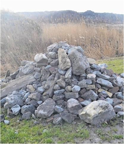 Vorstands- und Ausschussmitglieder des Deichverbandes haben die Steine und den Bauschutt vom Deichkörper entfernt.  Foto Malekaitis