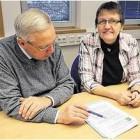 ASO-Geschäftsführer Frank Theilen und Annemarie Lampe wollen die Tausch- und Verschenkbörse bekannter machen. VDO Foto: von Döllen